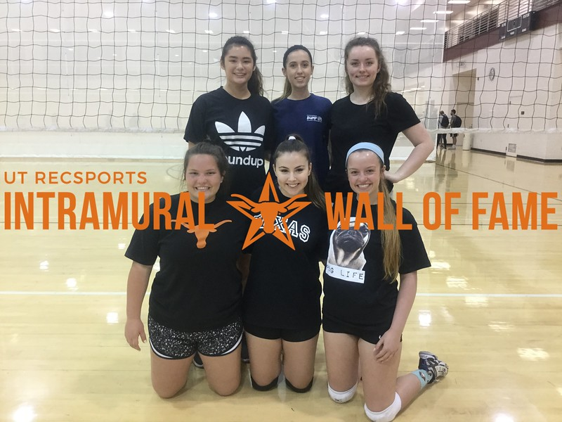Spring 2018 Volleyball Women's B Runner Up New Kids on the Block