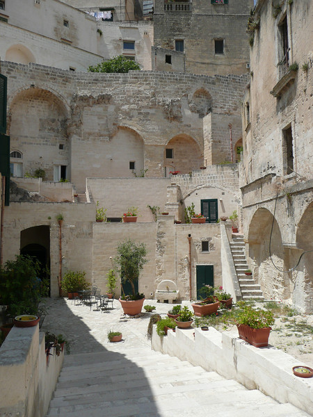 Typical courtyard in Matera