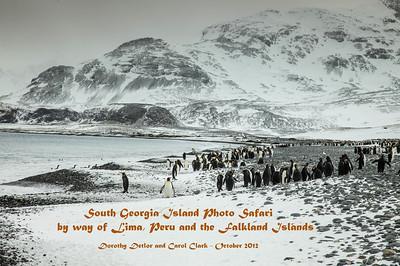Lima, Peru; South Georgia Island; Falkland Islands - Oct 2012