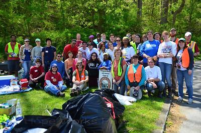 4.27.13 Patapsco River Cleanup in Avalon Area of Patapsco State Park from Gun Road to Thomas Viaduct Bridge