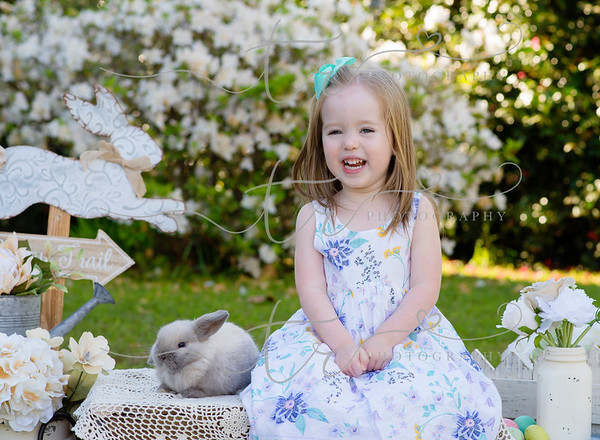 Zoe and Parker~Easter Bunny