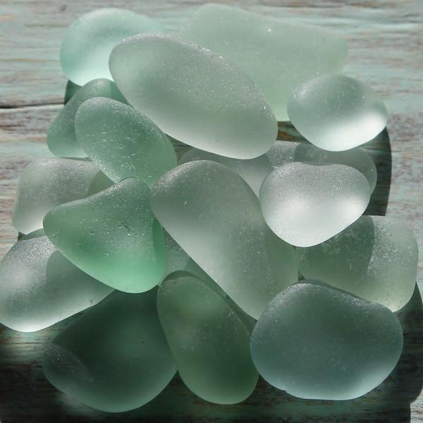Sea Foam Sea Glass Blues