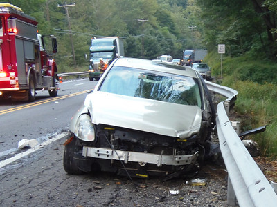 3-Vehicle MVA, Accident, near Municipal Road, SR309, West Penn (8-27-2013)