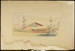 Artist's rendering of an unidentified house, [s.d.]