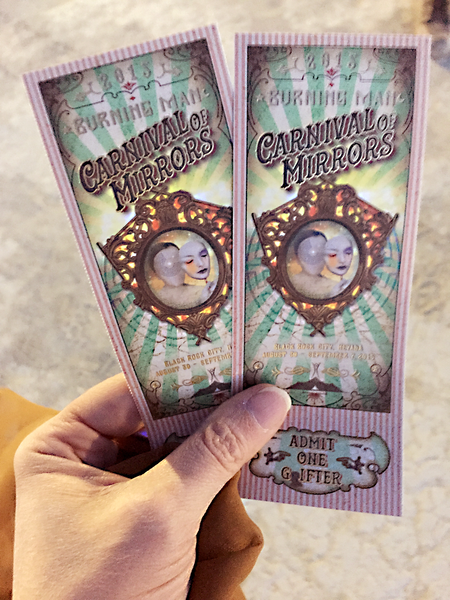 Two Burning Man 2015 Tickets Acquired from Will Call