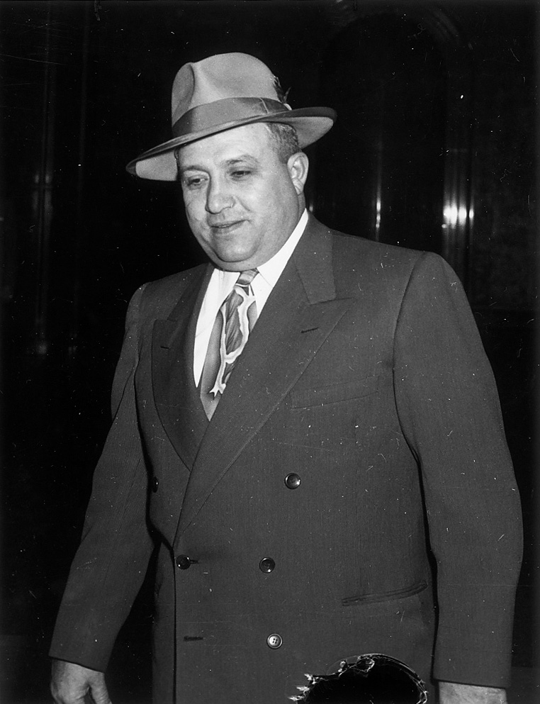 . This photo was taken in 1951. Clyde Smaldone during a grand jury investigation in Denver, Co.   HISTORICAL COLLECTION
