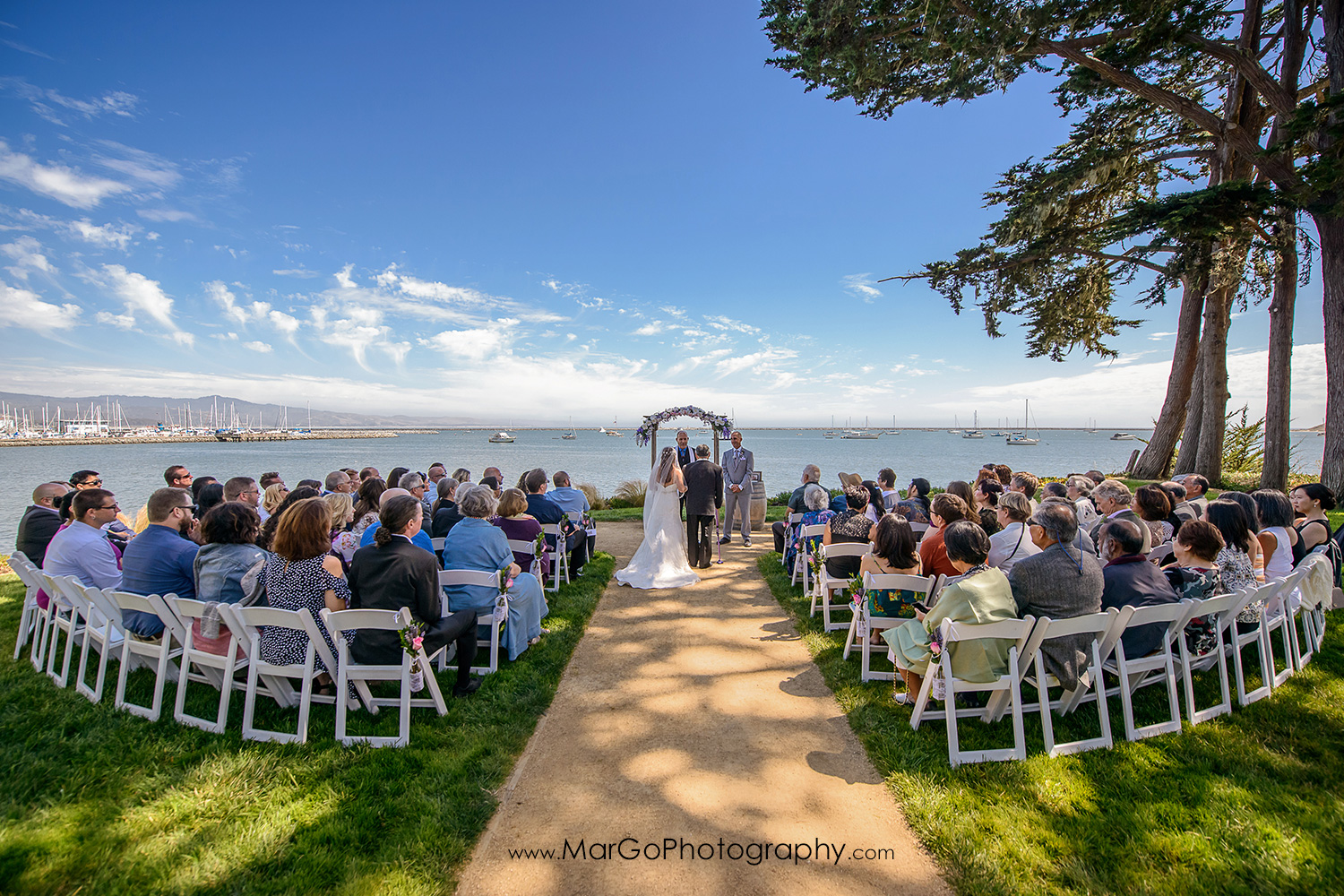 wedding ceremony at Mavericks Event Center in Half Moon Bay