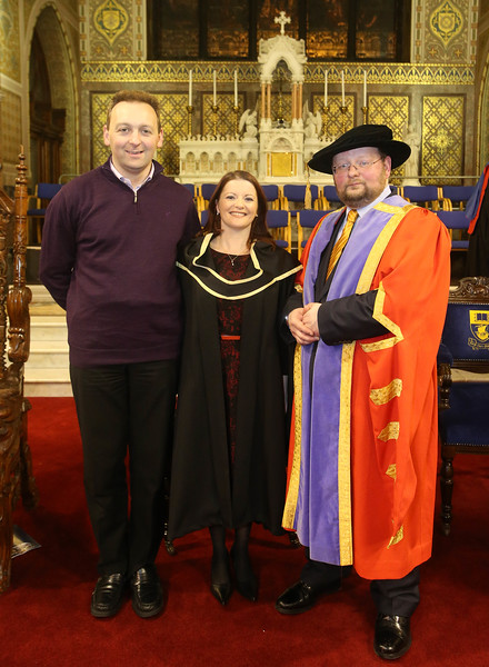 Pictured is Maria McEvoy, Waterford who graduated Master of Arts in Teaching and Learning in Further and Higher Education. Also pictured is Shane McDonald. Picture: Patrick Browne.