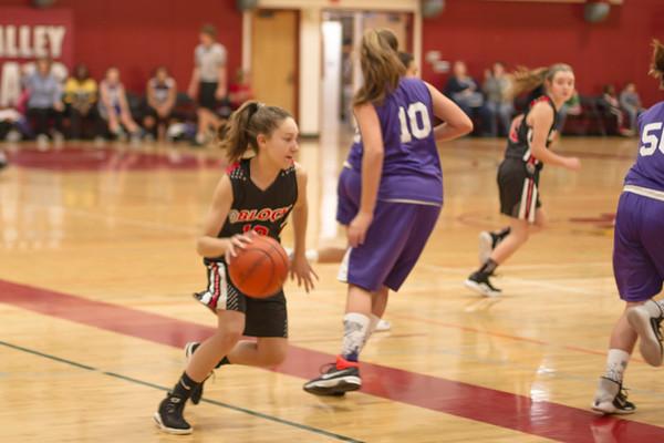 D Block Basketball, 7th Grade Girls 2018-19