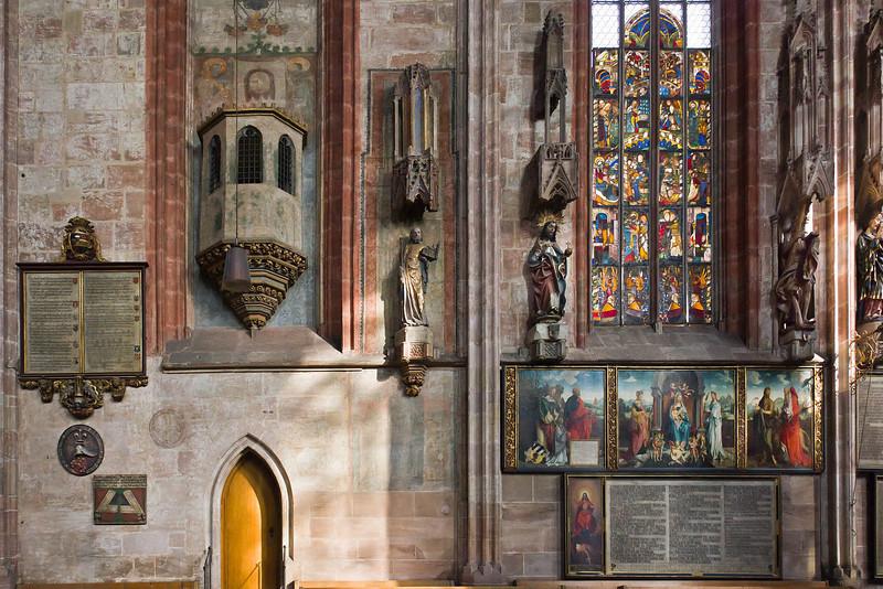 Nürnberg. St. Sebald: Nordwand des Ostchors