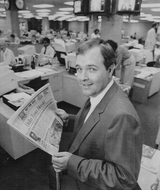 . William Dean Singleton, president of Media News Inc., and owner of the Dallas Times Herald, shown in this 1986 file photo, says the company\'s Gloucester County Times Inc. affiliate has purchased the Houston Post from Toronto Sun Publishing Co. for $150 million.1987. Credit: AP Laser photo