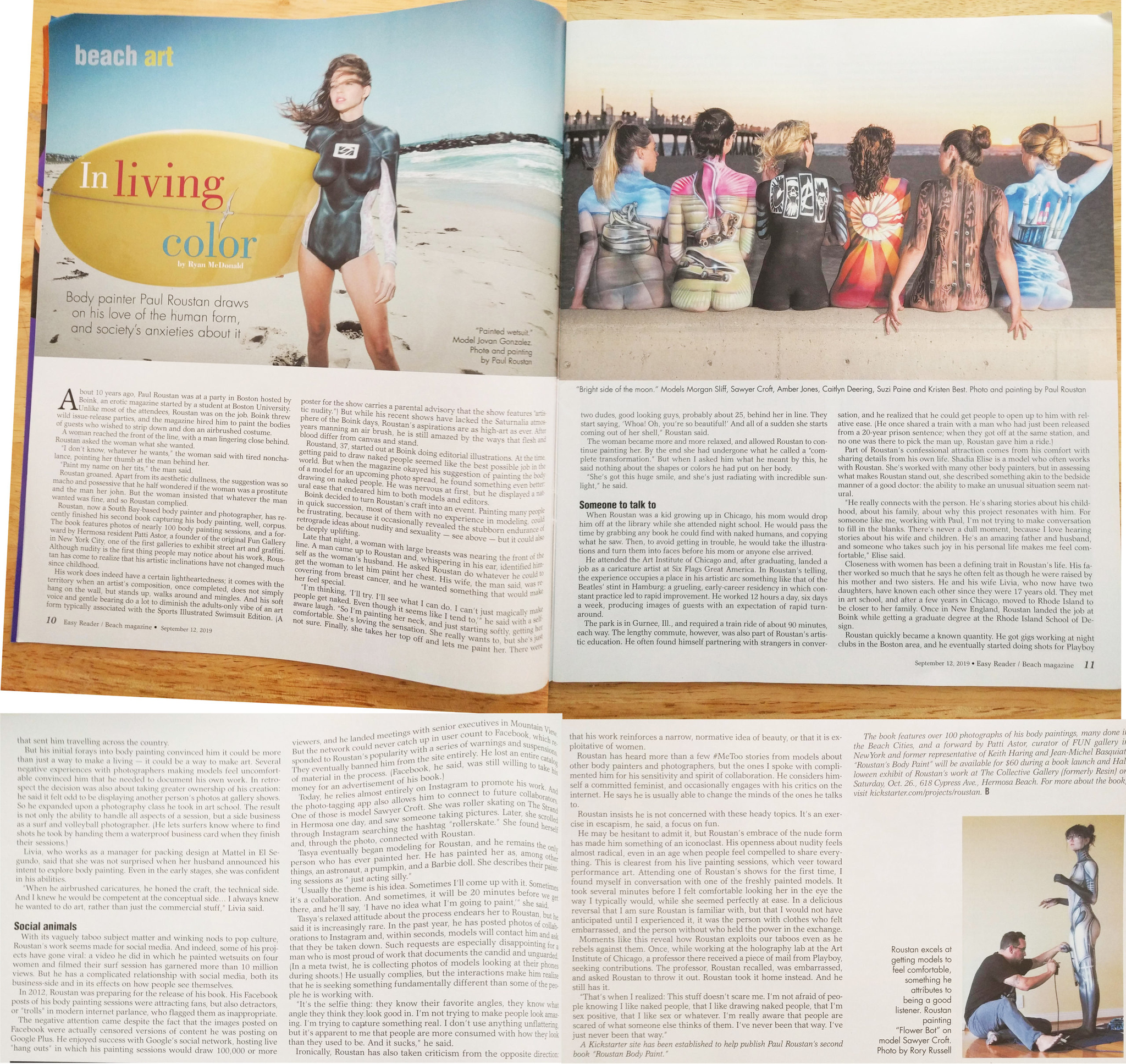 Paul Roustan feature In Living Color in Beach Magazine