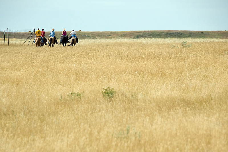 Horseback riders in Theodore Roosevelt National Park