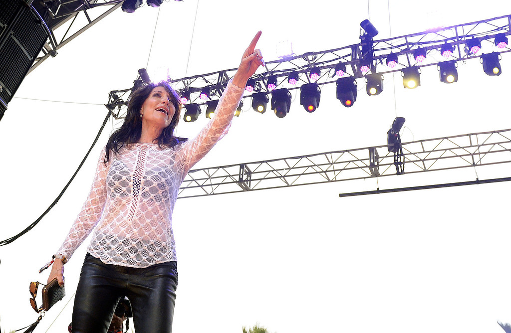 . Katey Sagal and the Forest Rangers perform on the Palamino Stage Friday April 25, 2014 at Stagecoach 2014 at the Empire Polo Club in Indio. (Will Lester/Inland Valley Daily Bulletin)