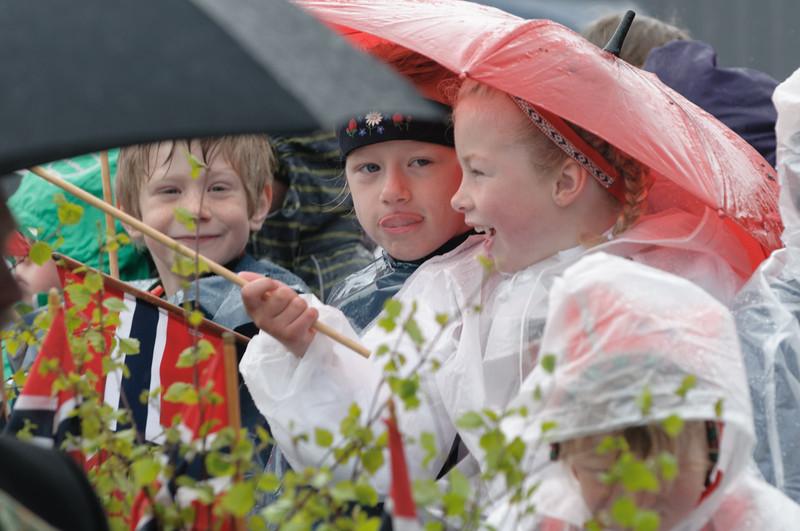 Trotz des miesen Wetters waren alle gut gelaunt.