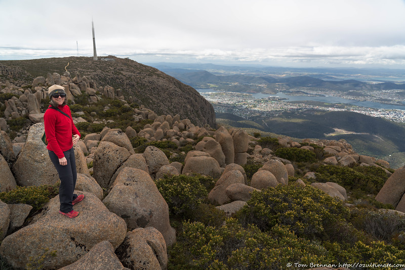 Rachel on Mt Wellington