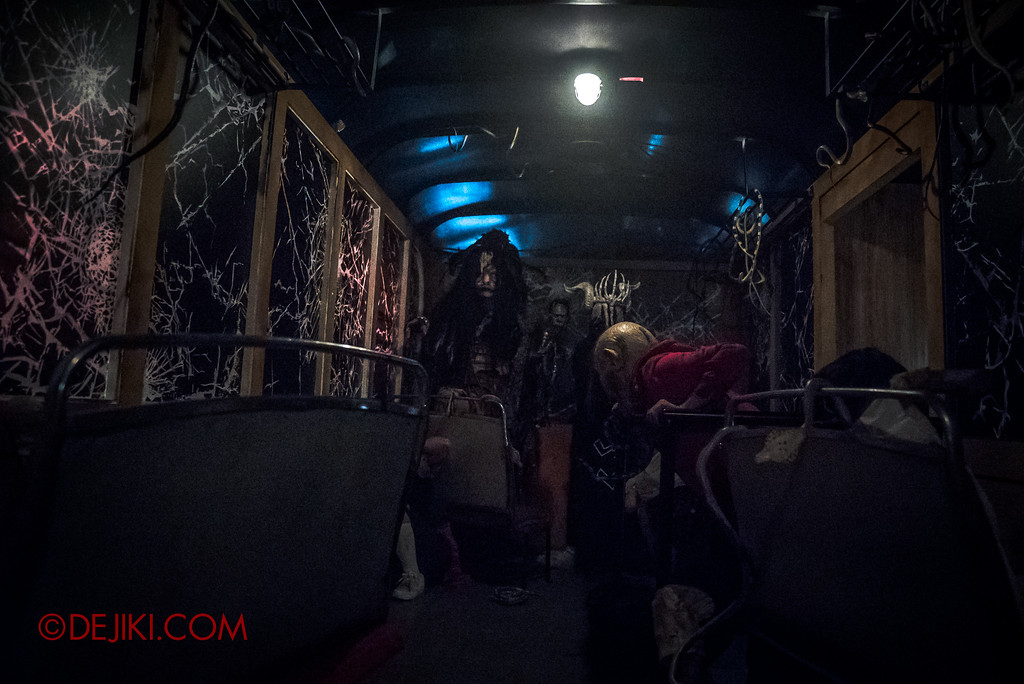Halloween Horror Nights 7 Behind the Scenes: A Tour Inside HEX haunted house, the cursed bus