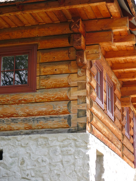 Beautiful woodwork at Vlkolinec