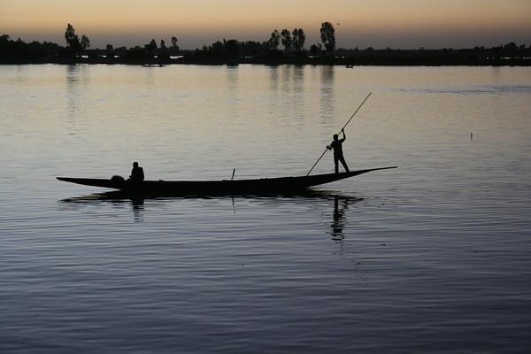 On the River Bani at Mopti, Mali - ML037
