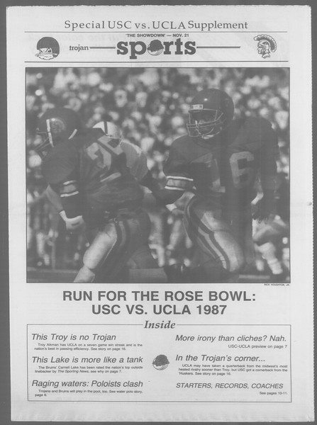 Daily Trojan, Vol. 105, No. 56, November 20, 1987