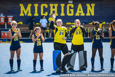 9-7-14 Michigan Field Hockey Vs Central Michigan