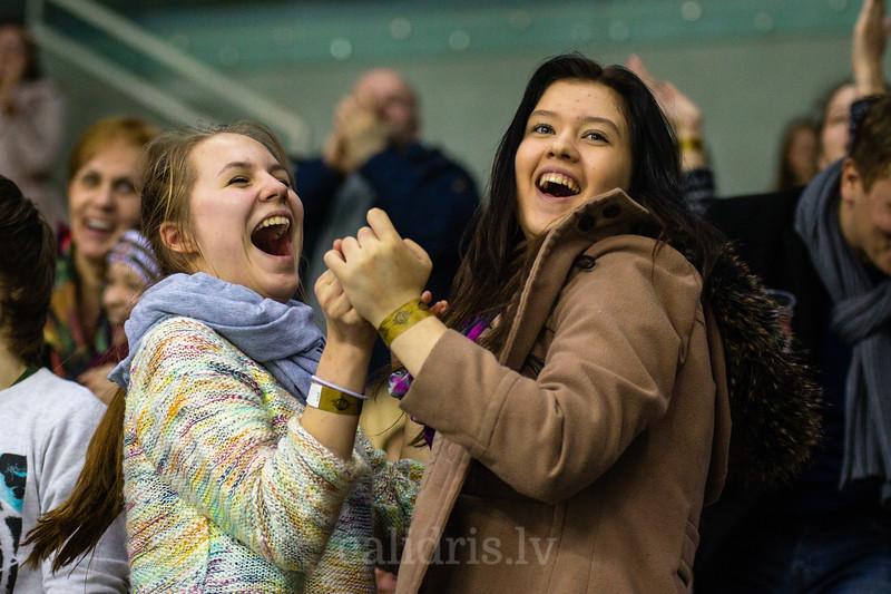 Dinamo Riga līdzjutējas priecājas par kārtējo Dinamo Riga vārtu guvumu