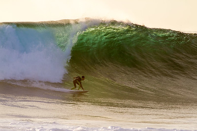 Redondo Breakwater, winter 2013. This wave was well over 20' tall. Gut check!