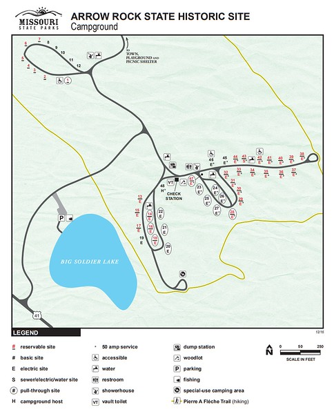 Arrow Rock State Historic Site (Campground Map)