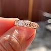 1.28ctw Asscher Cut Diamond 5-Stone Band, 18kt Rose Gold 6