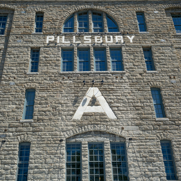 Facade of the Pillsbury A-Mill, Minneapolis, Hennepin County, Minnesota, USA