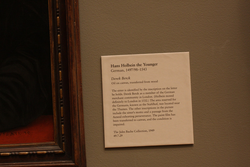 At the Metropolitan Museum of Art.