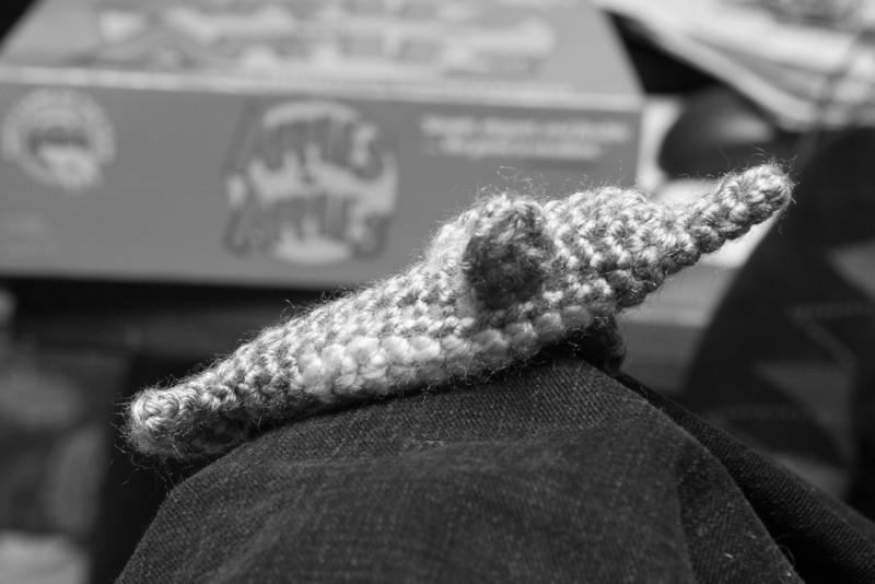 Knit dolphin.