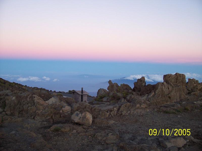 Top of Haleakala, Maui at sunrise.