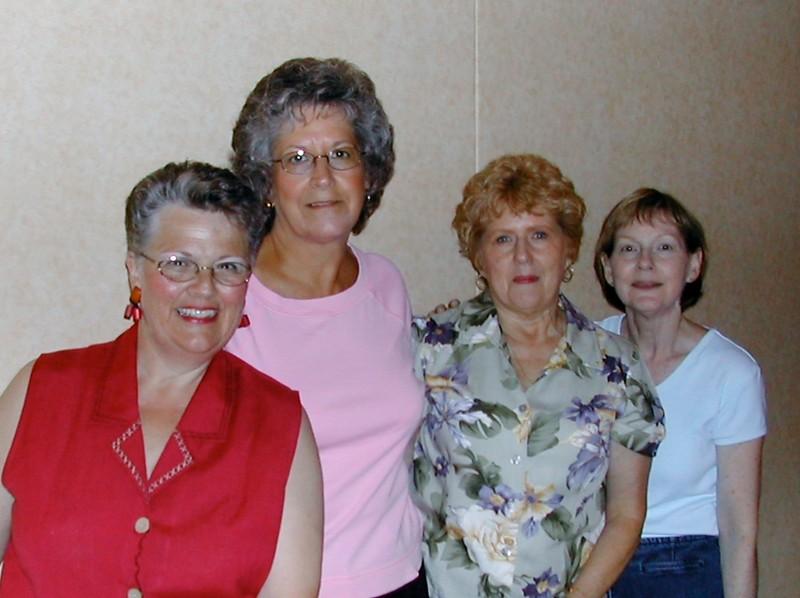 Celia Smith, Harriet Shull,  Joyce Lain, Patti Powers