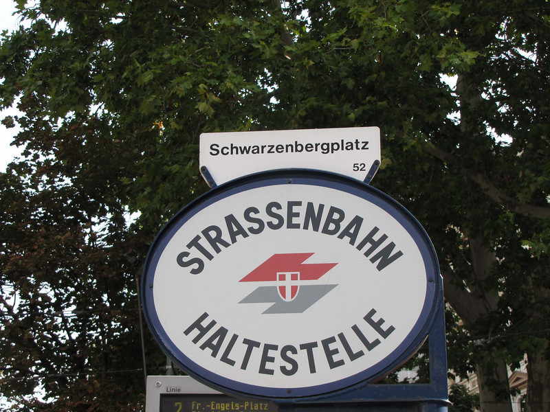 "02-""Streetcar stop"" nearest my hotel. Photos of Schwartzenberg Palace and Plaza are elsewhere, however."