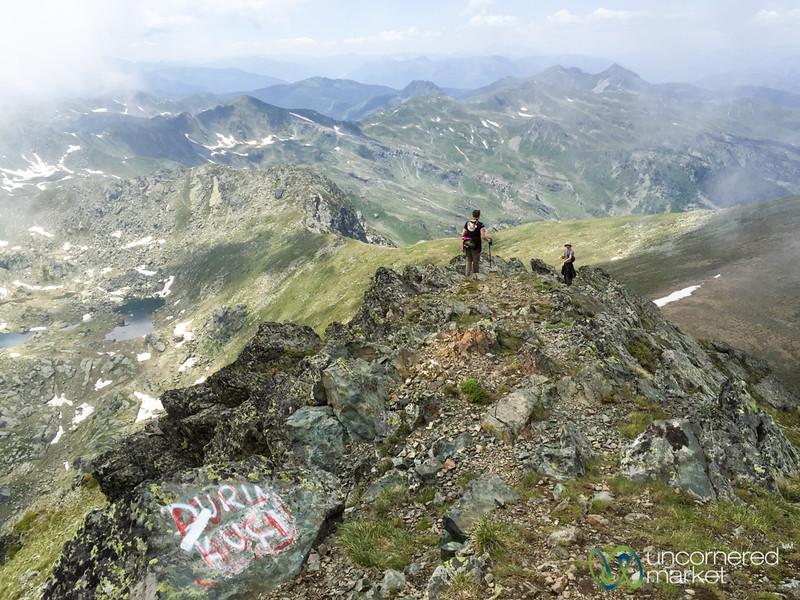 Descending Mount Gjeravica - Kosovo