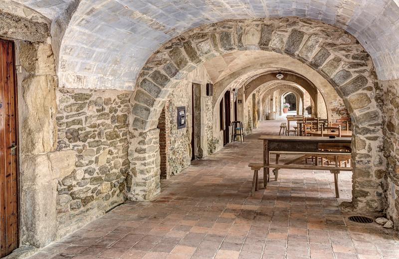 Arcades At Plaça Major (Monells, Catalonia)