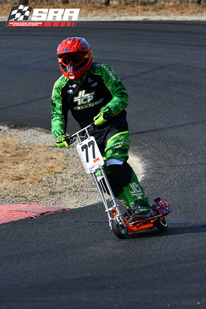 Go Ped Racer # 77 Red Helmet