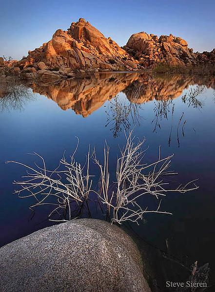 Reflection at the Barker Dam at Johsua Tree National Park
