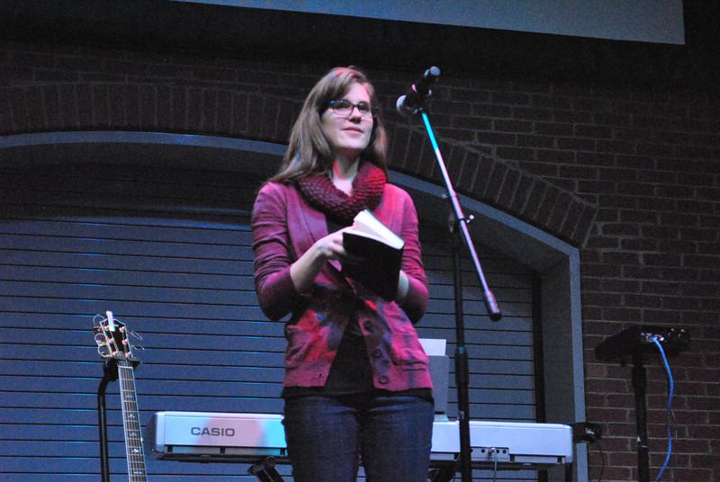 Student testimonies, worship, and communion at the last night of celebration week.