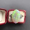5.01ct Art Deco Opal and Diamond Ring 15