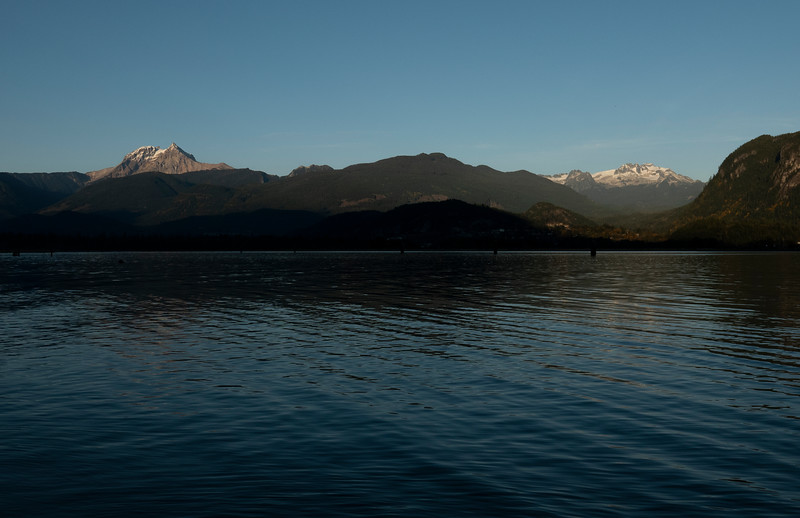 Mount Garibaldi and Mamquam Mountain -  view from the Spit Rd, Squamish