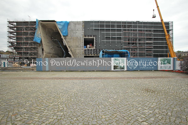 POLAND, Warsaw. Museum of the History of the Polish Jews, under construction. (9.2011)