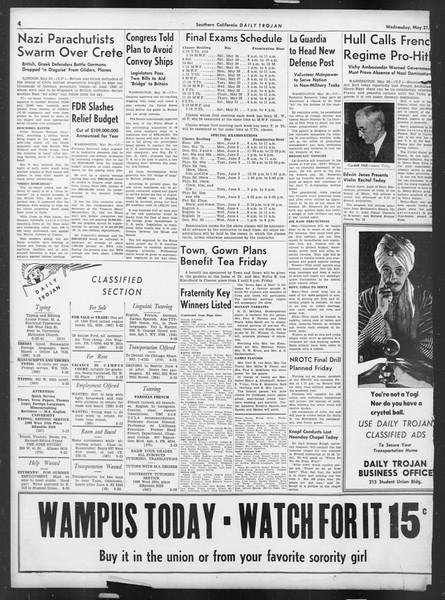 Daily Trojan, Vol. 32, No. 146, May 21, 1941