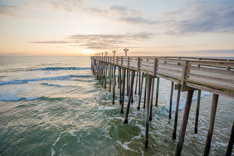 Sunrise at Kitty Hawk Pier, NC