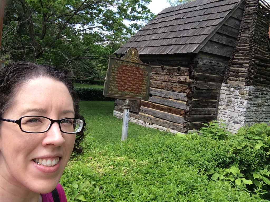 Lisa at Patterson Log Cabin, Transylvania University, Lexington, Kentucky, May 2015