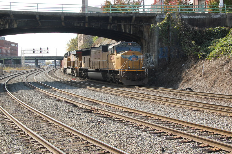 NS 231-06 Garden City, GA-Austell, GA intermodal  UP 4356  UP 7520  at NS Circle, Atlanta, GA