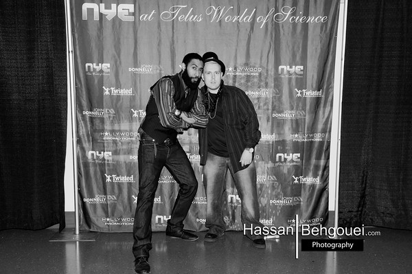 9th Annual New Years Eve 2016: NYE'16 @ Telus World Of Science Promoted By: Twisted Productions, Hollywood Promotions & John Donnelly & Asc 1455 Quebec St Greater Downtown Vancouver Lower Mainland Bc Canada Highlights B&W (12_31_15)