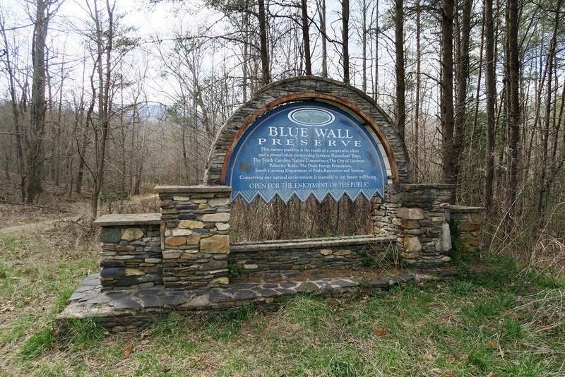Blue Wall Preserve Entrance