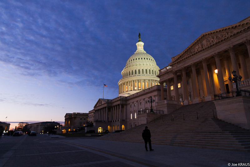 Dawn over the US Capitol